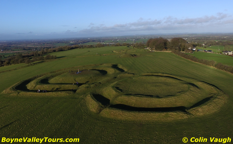 Celtic Earth Works on the Hill of Tara