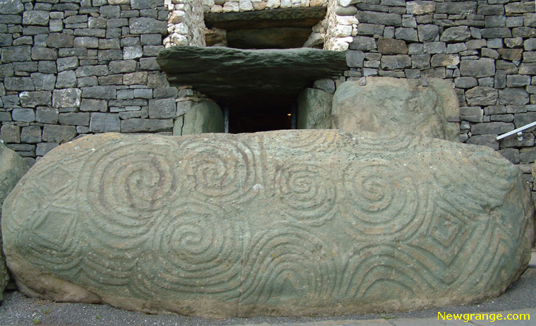 Newgrange kerbstone k the entrance stone
