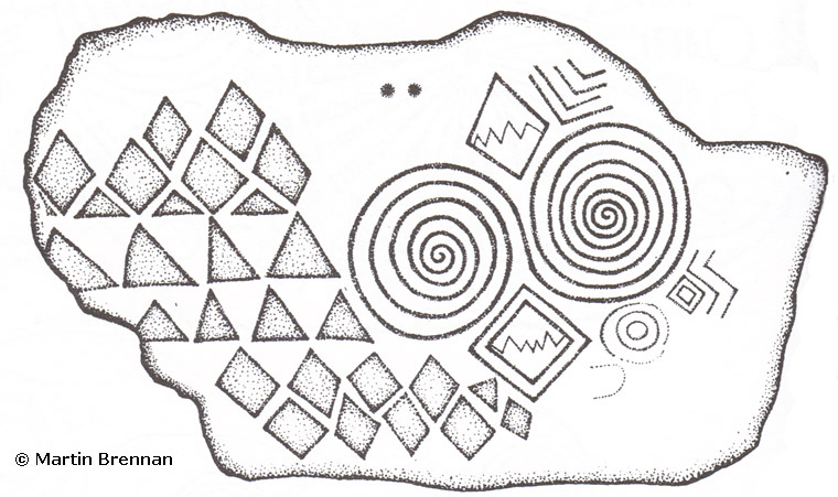 Newgrange K67 drawing by Martin Brennan