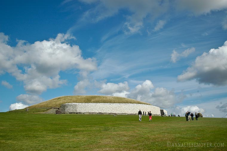 Newgrange blue sky
