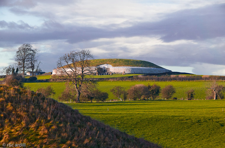 Newgrange on a winter's evening