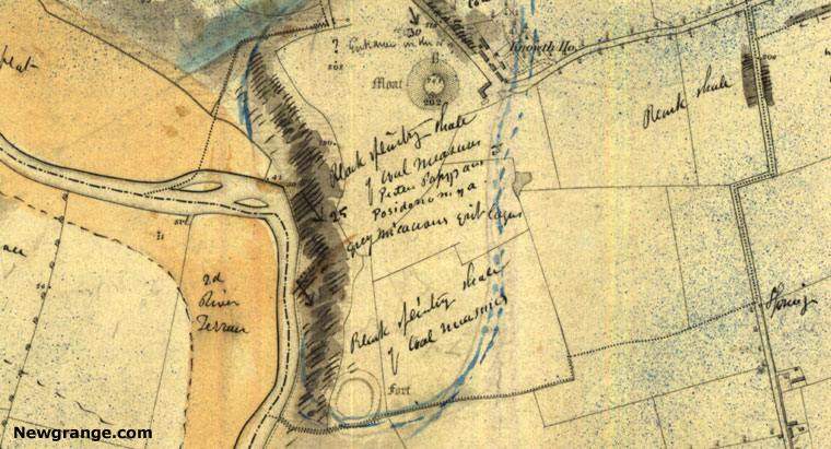 Old Maps Showing Newgrange Knowth