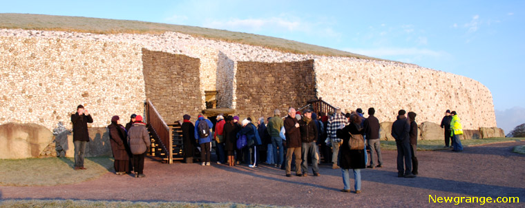 Magnificent glow from the winter sunrise at Newgrange